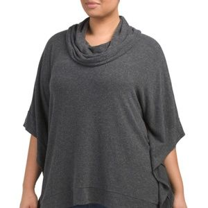 NYDJ Plus Cozy Jersey Poncho 3X/4X